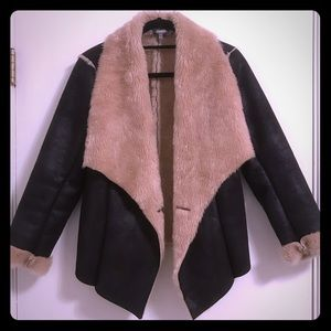 Like New Neiman Marcus Faux Fur/ Suede Coat